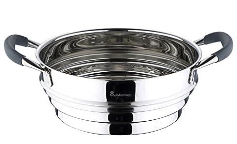 Bergner MasterPro Professional Steamer Pan Set 18/10 Stainless Steel (Steamer)