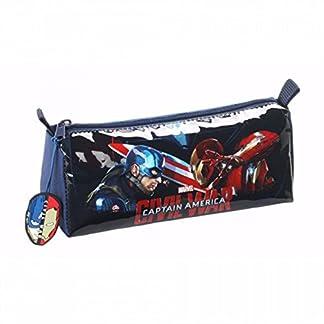 Marvel – Estuche triangular oficial de Marvel Capitán América para niños