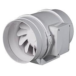 Rohrventilator Rohrlüfter Ventilator Duct Fan Lüfter Gebläse Turbo Motor DE Lage