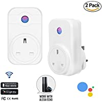 2 Pack ACEMAX Smart WiFi Plug Outlet,Works with Amazon Alexa, Google Home Assistant,IFTTT, Control your Devices from Anywhere, Anytime,Timer, Countdown,No Hub Required
