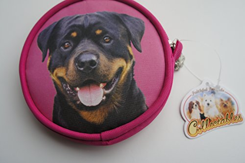 Price comparison product image ROTTWEILER ROTTY DOG COIN PURSE MADE BY SAWLEY FINE ARTS DOG LOVER GIFT