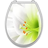 SHIRT-TO-GO Pegatinas para tapa de WC, diseño de flores