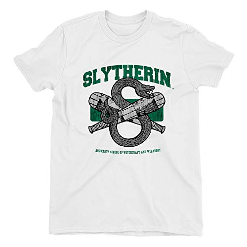 Harry Potter Slytherin Snake Quidditch Emblem Ladies White T-Shirt
