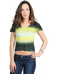 GAS Jeans Damen T-Shirt kurzarm Grün GAS1205