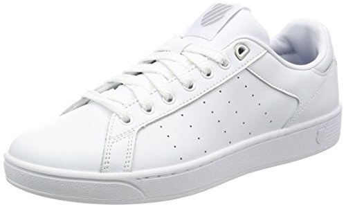 K-Swiss Clean Court Cmf, Sneakers Basses Homme Blanc (White/gull Gray 131)