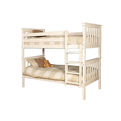 Comfy Living Premium Pine Bunk Bed a White Finish - Wembdon