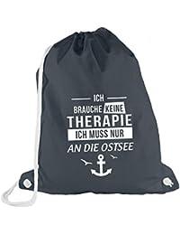 d2c772cf3cb2c ShirtFlow Turnbeutel Ich Brauche Keine Therapie Ostsee