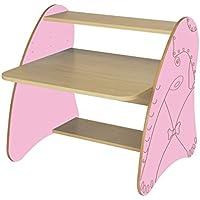 Preisvergleich für Mobeduc 600912hr22–PC-Tisch Kinder/Primär, Holz, Buche und rosa, 80x 75x 80cm