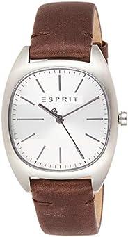 Esprit Mens Analogue Quartz Watch with Leather Strap