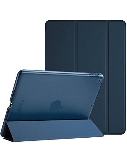 lle 2018 iPad 6 Generation /2017 iPad 5 Generation Tasche- Äußerst Schlank Leichtgewicht Ständer mit Transluzent Matt Rückseite Intelligente Hülle für Apple iPad 9.7 Zoll -Navy blau (Ipad Air-tastatur, Mit Lautsprecher)