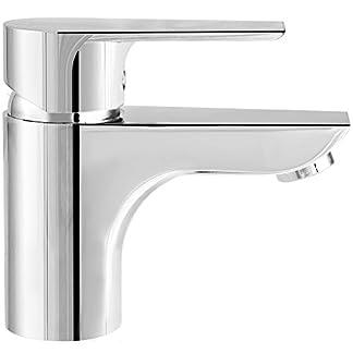 Teka 323420200cromado baño grifo del fregadero con caño fijo de Calvia–gris