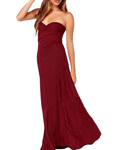 Lover-Beauty Kleider Damen V-Ausschnitt Rückenfrei Neckholder Abendkleider Elegant Cocktailkleid...