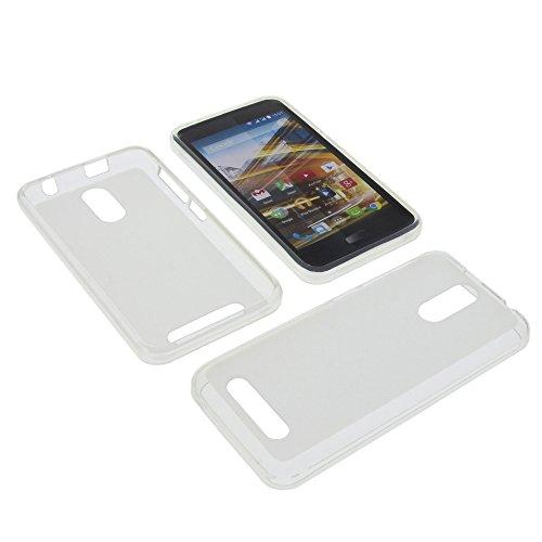 foto-kontor Tasche für Archos 45 Neon Gummi TPU Schutz Handytasche milchig transparent