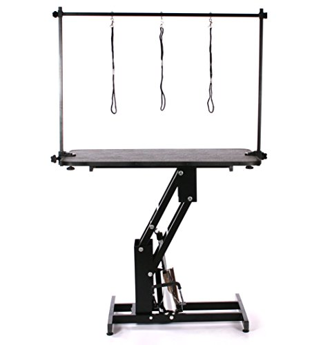 Pedigroom Large Professional Heavy Duty Hydraulic Dog Grooming Table with H Bar 3