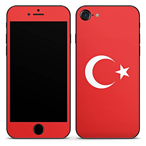 Apple iPhone 7 Case Skin Sticker aus Vinyl-Folie Aufkleber Flag of Turkey Türkei Flagge (Costum Ideen)