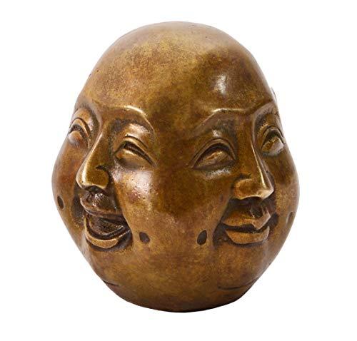 Aricola Buddha-Figur 4 Gesichter. Buddha Statue aus Bronze 6cm hoch. (Asiatisch Gesicht Produkte)