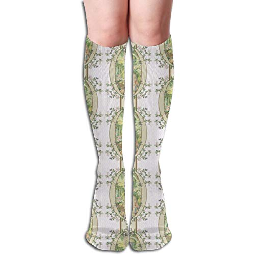 Pillowcase shop Beatrix Potter Flower Garden Blackberry Vine Oval Frame Coordinates Available Women Tube Knee Thigh High Stockings Cosplay Socks 50cm (19.6 inch) - Vine Oval