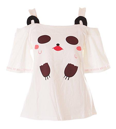 Kawaii-Story - Camiseta - Redondo - Mujer Blanco Blanco