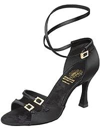Supadance Mujeres Latino Zapatos de Baile 1618 - Satin Negro - Regular - 2
