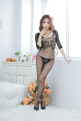 ALUK-Processo-per-la-messa-jacquard-a-maniche-lunghe-Body-biancheria-intima-sexy-nero