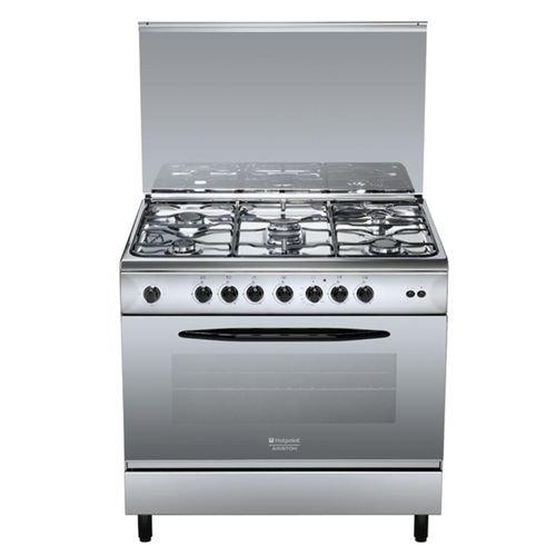 Hotpoint C 09SG1 (X)/HA S Cuisinière Cuisinière à gaz Acier inoxydable - Fours et cuisinières (Cuisinière, Acier inoxydable, Rotatif, En haut devant, Cuisinière à gaz, Acier inoxydable)