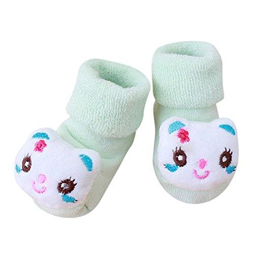 Mädchen Socken Set Weich Baumwolle Süß und Lieblich 0-36 Monate, Cartoon Neugeborenes Kind-Babys Junge Anti-Rutsch-warme Socken ()