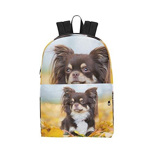 Netter Kleiner Chihuahua Hündchen Klassiker Netter wasserdichter Daypack sackt Schulehaus Kausale Rucksäcke Rucksäcke Bookbag für Kinderfrauen und Männer Reisen mit Reißverschluss und innerer Tasche