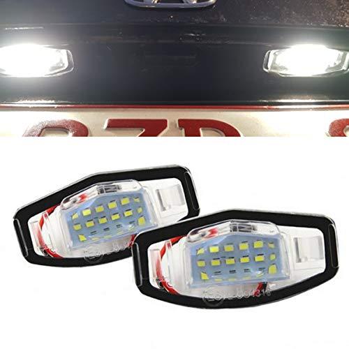 YUGUIYUN Auto Kennzeichenbeleuchtung Nummernschildbeleuchtung 18 LED Bright Weiß Lampen Leuchtmittel 3528 SMD für Accord Civic City Odyssey MR-V/Pilot for Acura RL TSX RDX