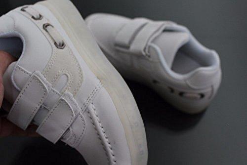 (Présents:petite serviette)JUNGLEST® Enfants fille garçon a mené la lumière jusquà formateurs de sneakers chaussures de sport Chaussures white