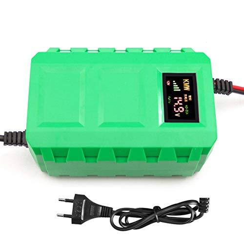 Caricabatteria per batterie al piombo acido intelligente per batterie da 12V con display a LED per automobile LED per motocicletta (colore: verde)