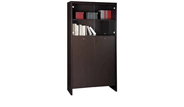 Libreria Ufficio Wenge : Libreria vetrina moderna mobile ufficio studio mensole wengé cl6121