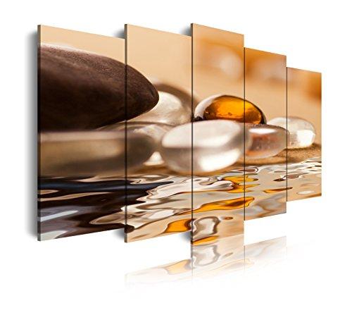 DekoArte 110 - Cuadro moderno, Paisaje Piedras Zen, 150 x 80 cm