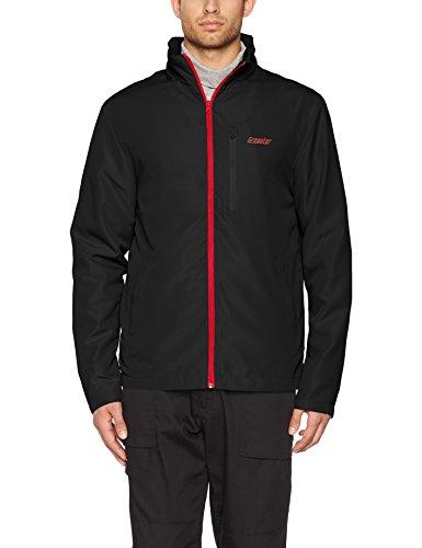 Gregster Softshell Jacke für Herren in schwarz - Outdoor Jacke mit rotem Zipper - perfekt geeignet als Übergangsjacke, Funktionsjacke oder Laufjacke mit Kapuze Schwarz