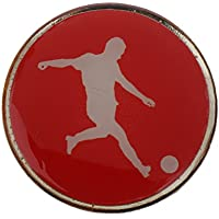 Sharplace Pièce de Tirage d'Arbitre de Football Flip Toss en Métal Rouge Bleu 3,5 Cm