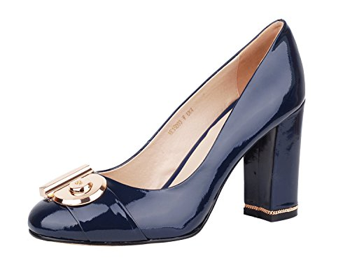 Niuerte Niuertewife - A Low Neck Mujer Navy Patent-a