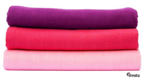 divata Set de 3 Langes Coton 80/80 Coloré - Fleur