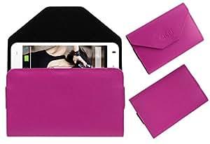 Acm Premium Pouch Case For Lava Iris X1 Beats Flip Flap Cover Holder Pink