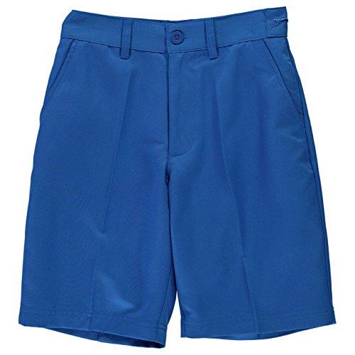 Slazenger Jungen Golf Shorts Polyester 4 Taschen Design Blau XL - Golf Shorts Blau