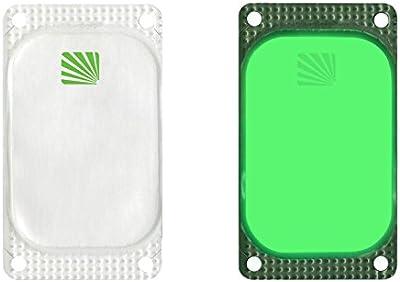 Cyalume - Paquete de 250 balizas luminosas adhesivas rectangulares VisiPad, 10 horas, color verde