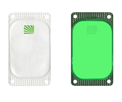 VisiPad Cyalume selbstklebender Leuchtmarkierer Grün (250-er Pack) - kann zur Erhöhung der Sichtbarkeit von Oberflächen verwendet werden - optimiert Rettungseinsätze - Leuchtdauer 10 Stunden