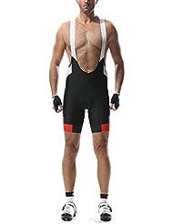 Santic Hombres de Elite ciclismo Bib pantalones cortos, hombre, color negro, tamaño medium