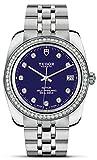 Tudor M21020 0006 Datumsdiamanten, 38 mm, blaues Zifferblatt