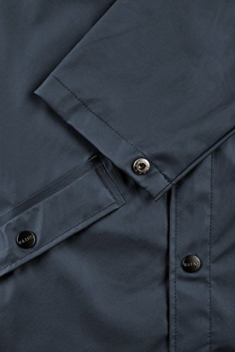 RAINS Herren Regenmantel Long Jacket Blau