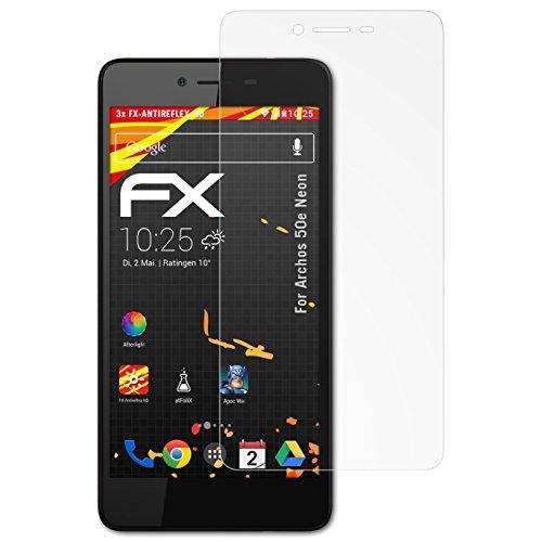 atFolix Schutzfolie kompatibel mit Archos 50e Neon Bildschirmschutzfolie, HD-Entspiegelung FX Folie (3X)