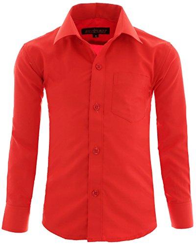 GILLSONZ - Camisa - Clásico - niño Rojo 10/11 años