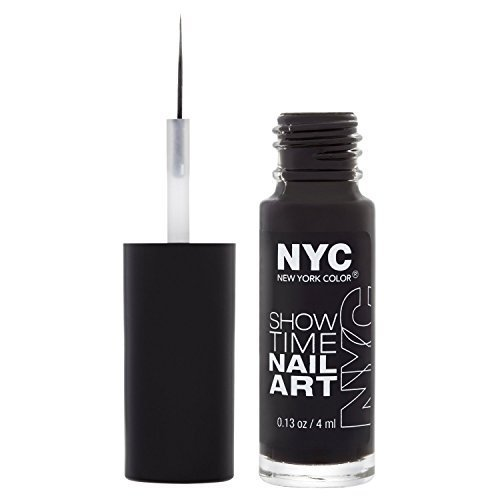 NYC Showtime Nail Art Creation 4ml - 001 Black Ink from N.Y.C by N.Y.C.