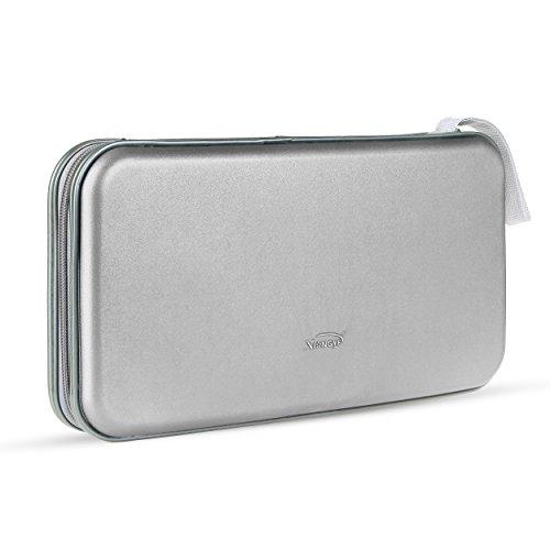 Preisvergleich Produktbild Pingenaneer 80 CD/DVD Aufbewahrung Tasche Hard Plastik CD-Wallet/Mappe mit Verschluss Reißverschluss Anti-Kratzer und Platzsparend - Silber