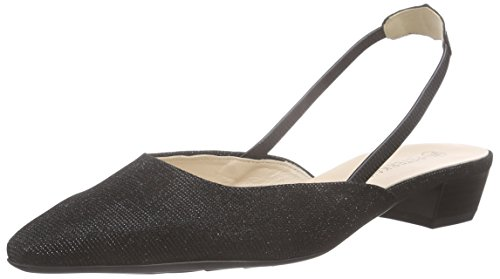 peter-kaiser-castra-womens-sling-back-pumps-black-schwarz-shimmer-chevro-974-5-uk-38-eu