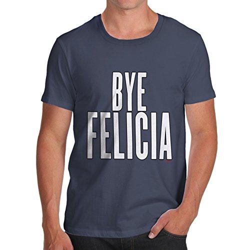 Herren Bye Felicia T-Shirt Marineblau