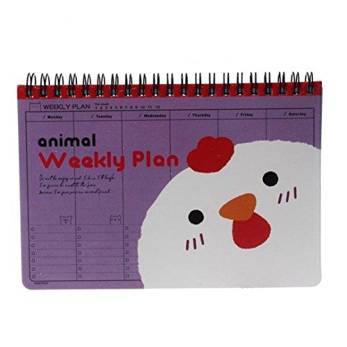 Preisvergleich Produktbild winwintom Cute Wochenplaner Agenda Notebook violett